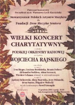 Plakat koncertu gwiazd.