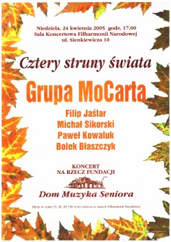 Plakat koncertu Grupy MoCarta.