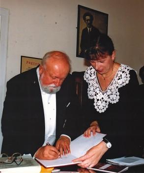 Krzysztof Penderecki oraz Joanna Tumiłowicz.