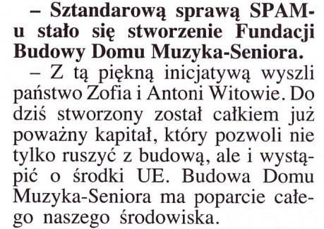 Wycinek prasowy z wywiadem A. Wicherka pismo ŚLĄSK str. 3.
