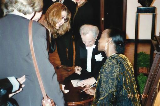 Antoni Wit oraz solistka Gwendolyn Bradley.