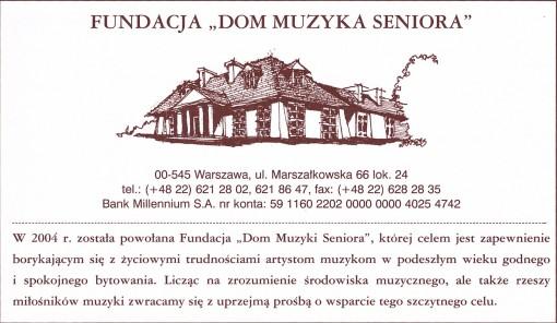 Anons o Fundacji DMS.